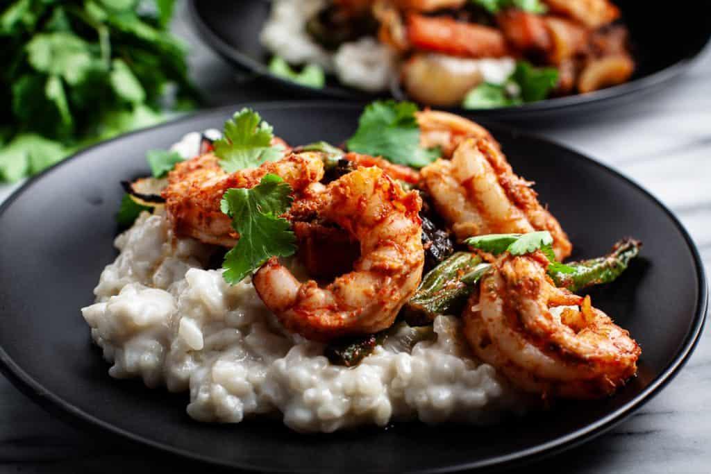 lemongrass risotto with shrimp