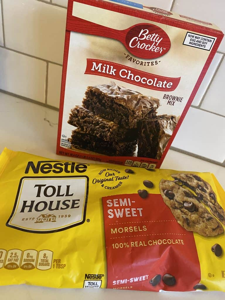 betty crocker brownie mix and nestle chocolate chips
