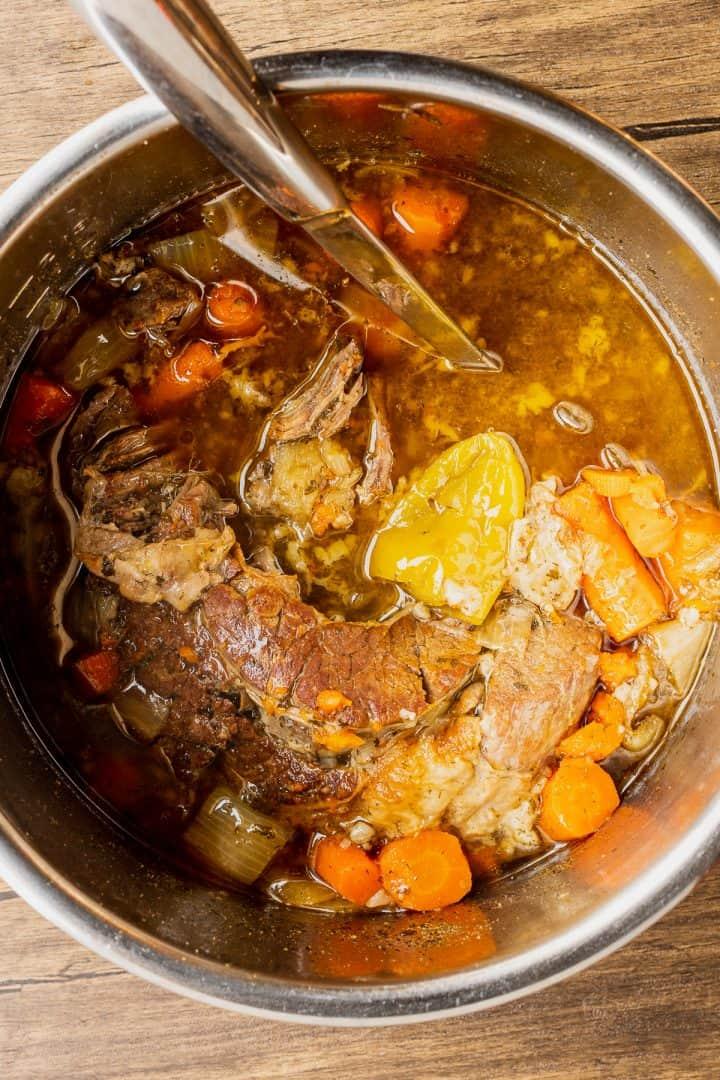 instant pot full of pot roast